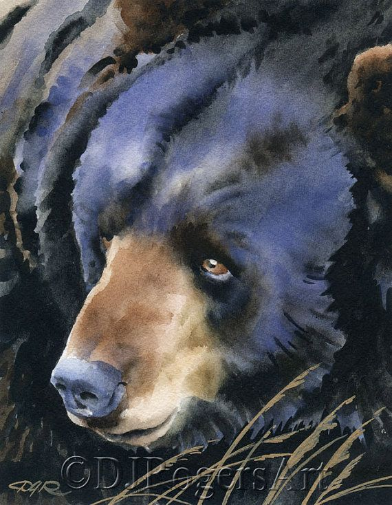 Hey, I found this really awesome Etsy listing at https://www.etsy.com/listing/173375581/black-bear-art-print-signed-by
