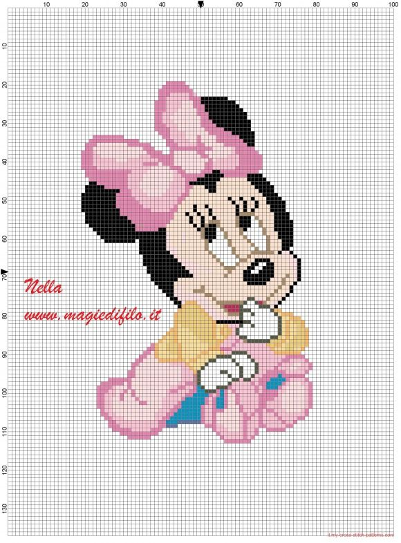 Minnie baby con vestitino e scarpine (click to view)