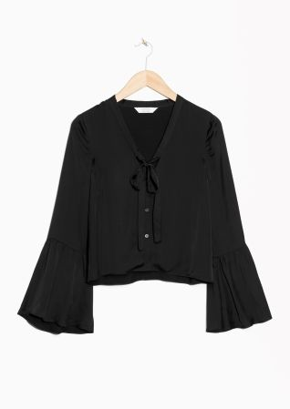 & Other Stories | Trumpet Sleeve Blouse