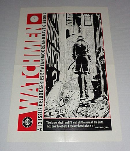 Original 1986 Watchmen promo poster by DC Comics by supervator