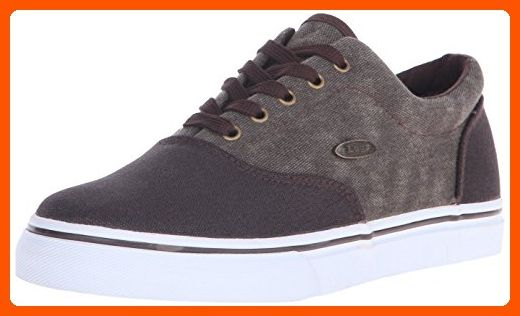 Lugz Men's Vet mm Fashion Sneaker, Chocolate/White, 7.5 D US - Mens world (*Amazon Partner-Link)