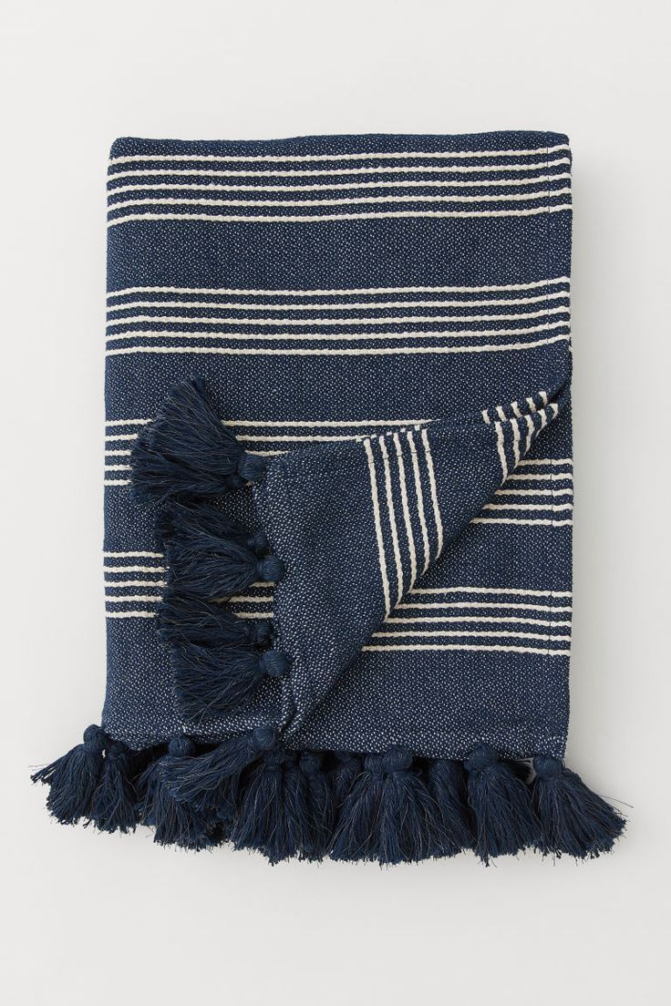 Blue Stripes Stylish Clothes In 2020 Striped Blankets Striped Throw Woven Blanket