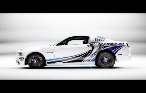 Ford Mustang Cobra Jet Twin Turbo Concept white