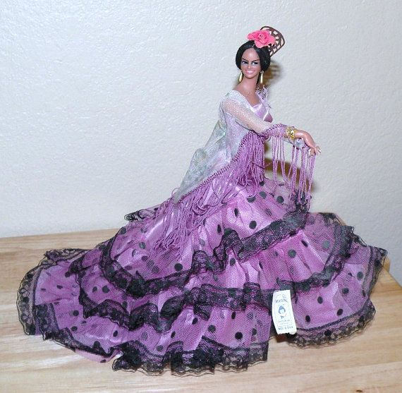Large Marin Chiclana Spanish Dancer Doll Figurine Dressed ...