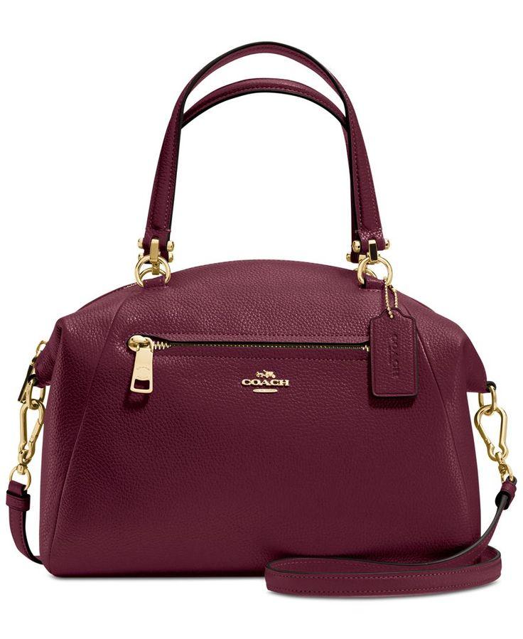 COACH PRAIRIE SATCHEL IN PEBBLE LEATHER - Handbags & Accessories - Macy's