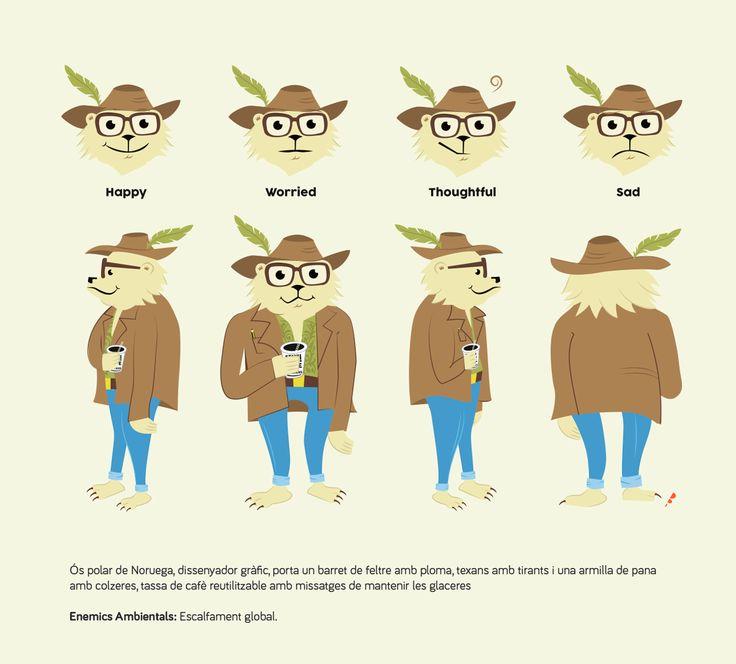 ceskus, character design, diseño personaje, ecology, graphic designer, polar bear, vector, illustration