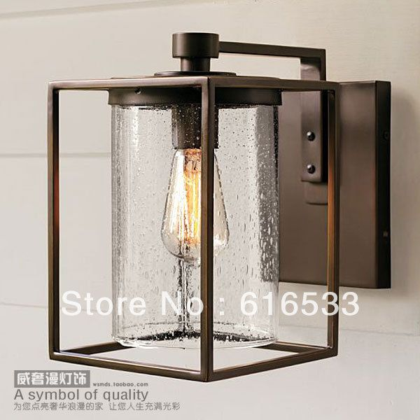 American style wrought iron balcony wall lamp vintage outdoor wall lamp waterproof lighting edison bulb b8022 $88.89