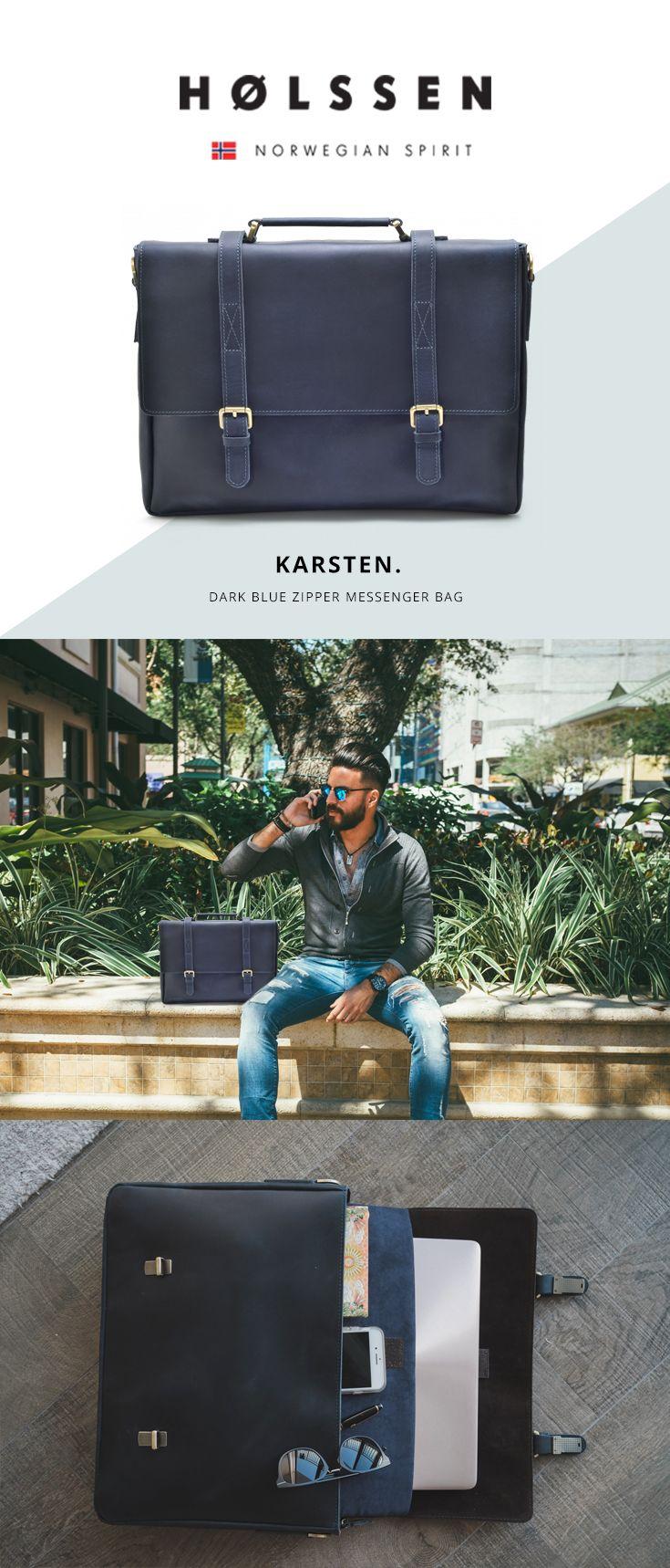 Man unisex leather briefcase messenger bag office bag work bag