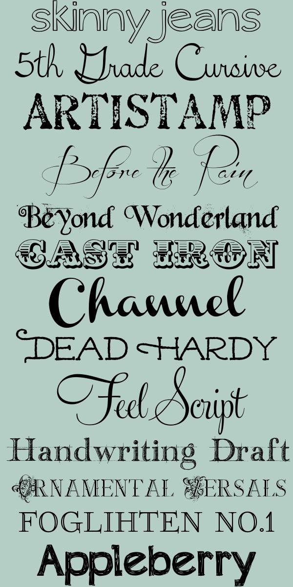 Favorite Fonts: lettertypen om bijvoorbeeld de klassenregels verfrissend zichtbaar te maken in de klas