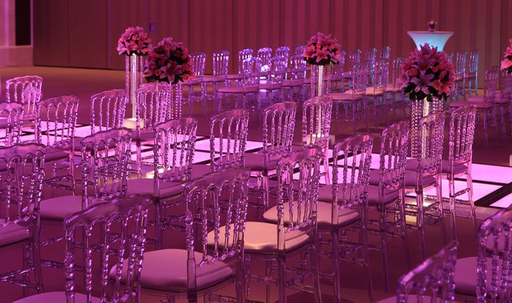 Crystal Tiffany chairs will make the venue more elegant.