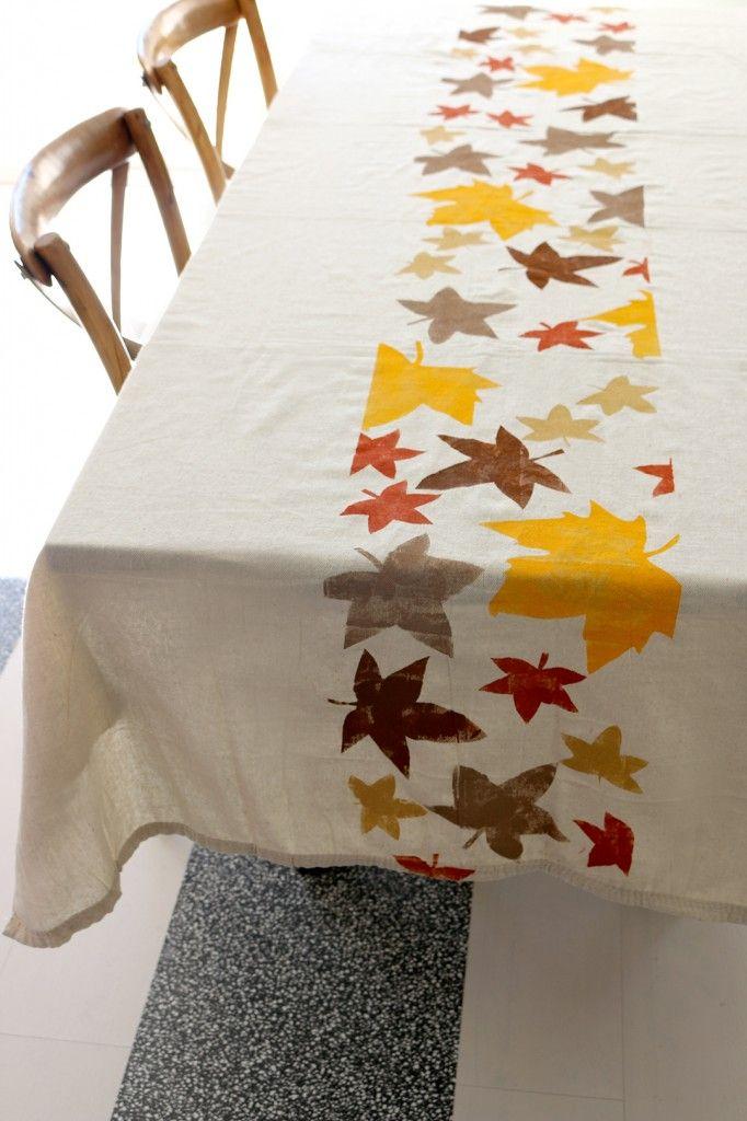Thanksgiving Tablecloth DIY