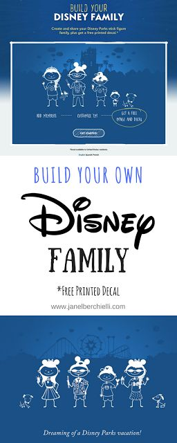 Build Your Disney Family Decal for FREE
