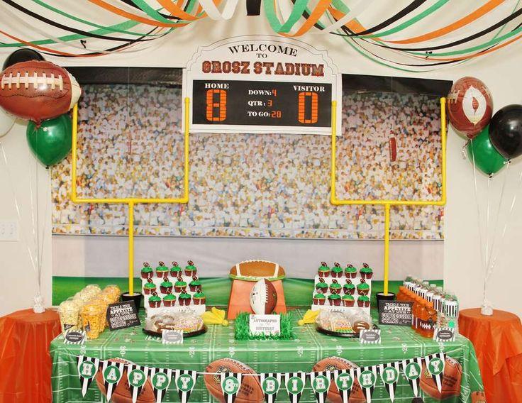 """football / Birthday """"Mason's 8th Football Birthday""""   Catch My Party"""