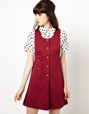 Image 1 of Pop Boutique Pinafore Dress