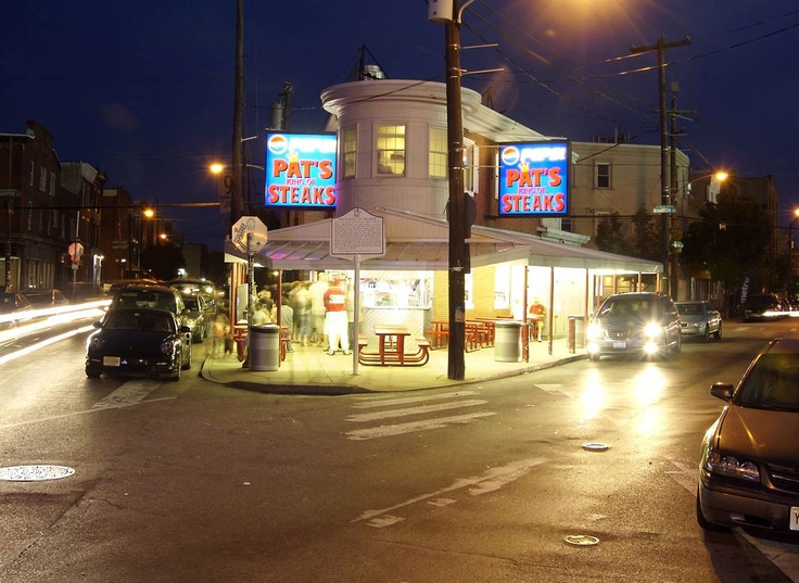 Pat's King of Steaks® Since 1930 | Pat's is known as the originator of the Philly Steak and Cheesesteak, which has become a tradition for Philadelphians and visitors on the go. Opened in 1930 and still located at the south end of the Italian Market, Pat's is open 24/7.  #SEPTA Routes: 47, 47M