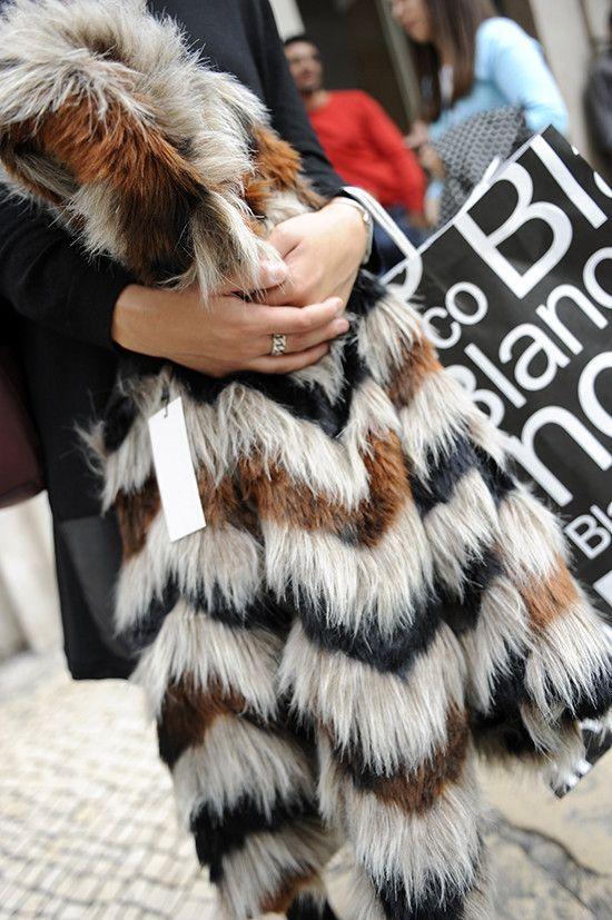 Para este inverno, Rossana vai apostar no pêlo.