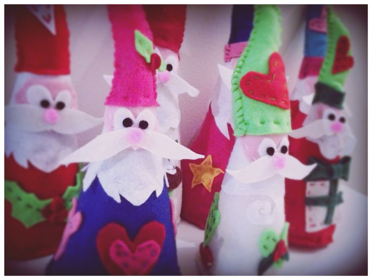 Handmade Felt Santas
