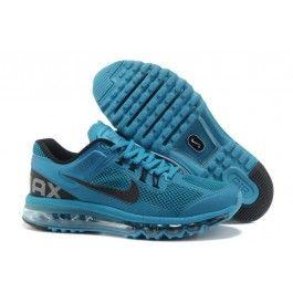 black nike air max for men,Mens Cheap Nike Air Max 2013 Trainers Peacock  blue/Black