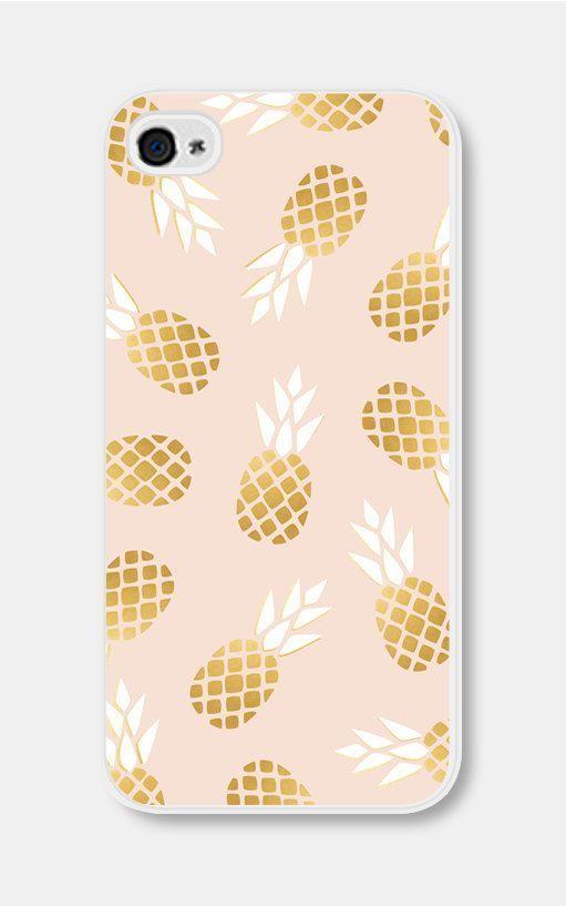 Light pink pineapple phone case
