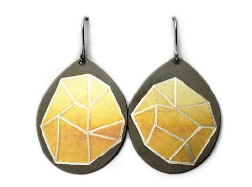 Meteoric titanium Earrings