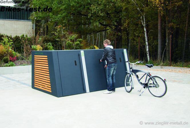 Fahrradgarage zum Schutz gegen Fahrraddiebstahl