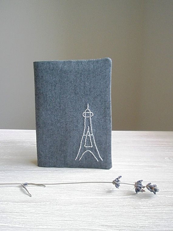 French passport cover case with Eiffel tower - embroidered passport holder wallet - travel documents - travel accessories - for traveller