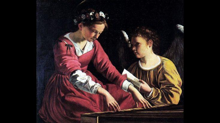 Orazio Gentileschi, Santa Cecilia suona la spinetta (1618 -1622), olio su tela, cm. 90 x 105. Perugia, Galleria Nazionale dell'Umbria.