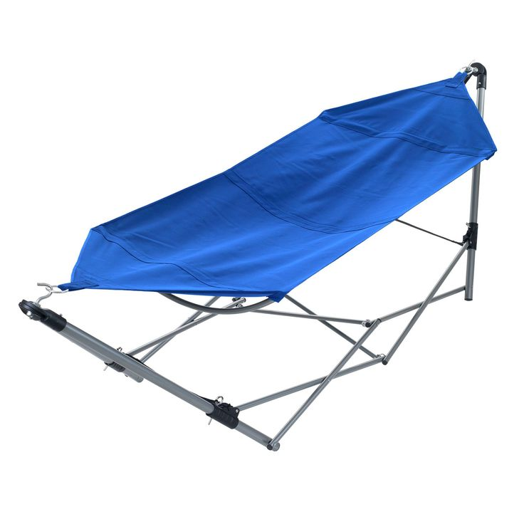 Features:  -Made of sturdy, yet comfortable canvas.  -Folds conveniently to fit into easy carry backpack.  -Perfect for camping, trips to the pool, the backyard and more.  -Aluminum frame.  -Folds cen