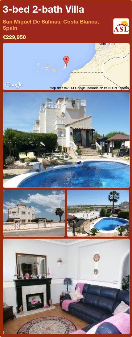 3-bed 2-bath Villa in San Miguel De Salinas, Costa Blanca, Spain ►€229,950 #PropertyForSaleInSpain