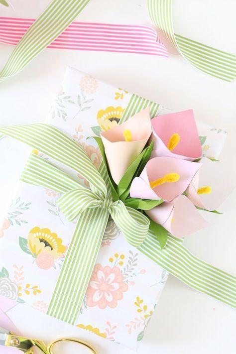 Süße Geschenkverpackung selber machen l Papier Blumen l Geschenke liebevoll verpacken l diy paper flowers