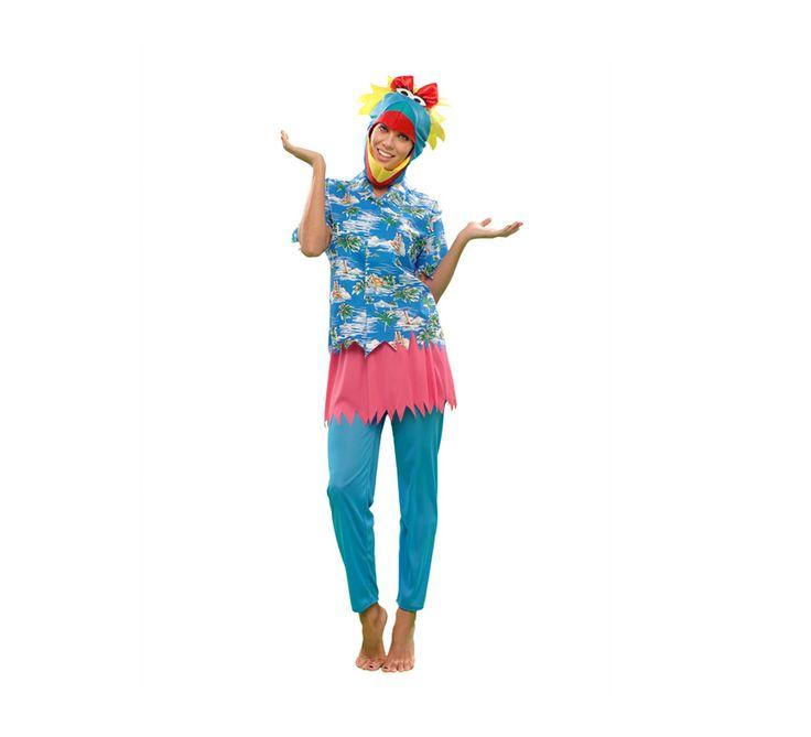 #Disfraz de #Pájara #Hawaiana para mujer. #fiestahawaiana #hawai #hawaii #verano