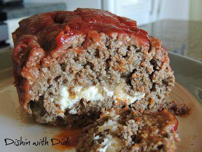 Dishin with Didi: Stuffed Mozzarella Meatloaf with Nonas Sauce