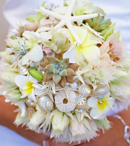 Nautical Bouquet Beach Wedding