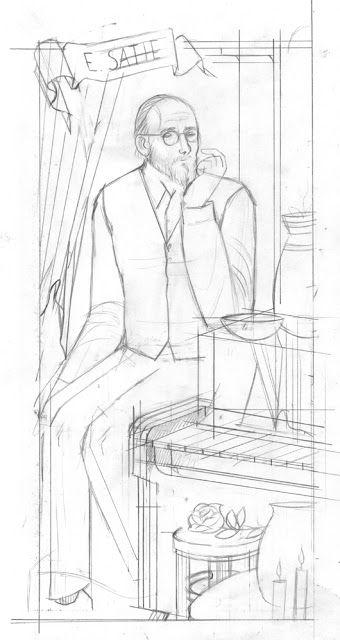 forgotten neighborhood: Erik Satie (pencil)