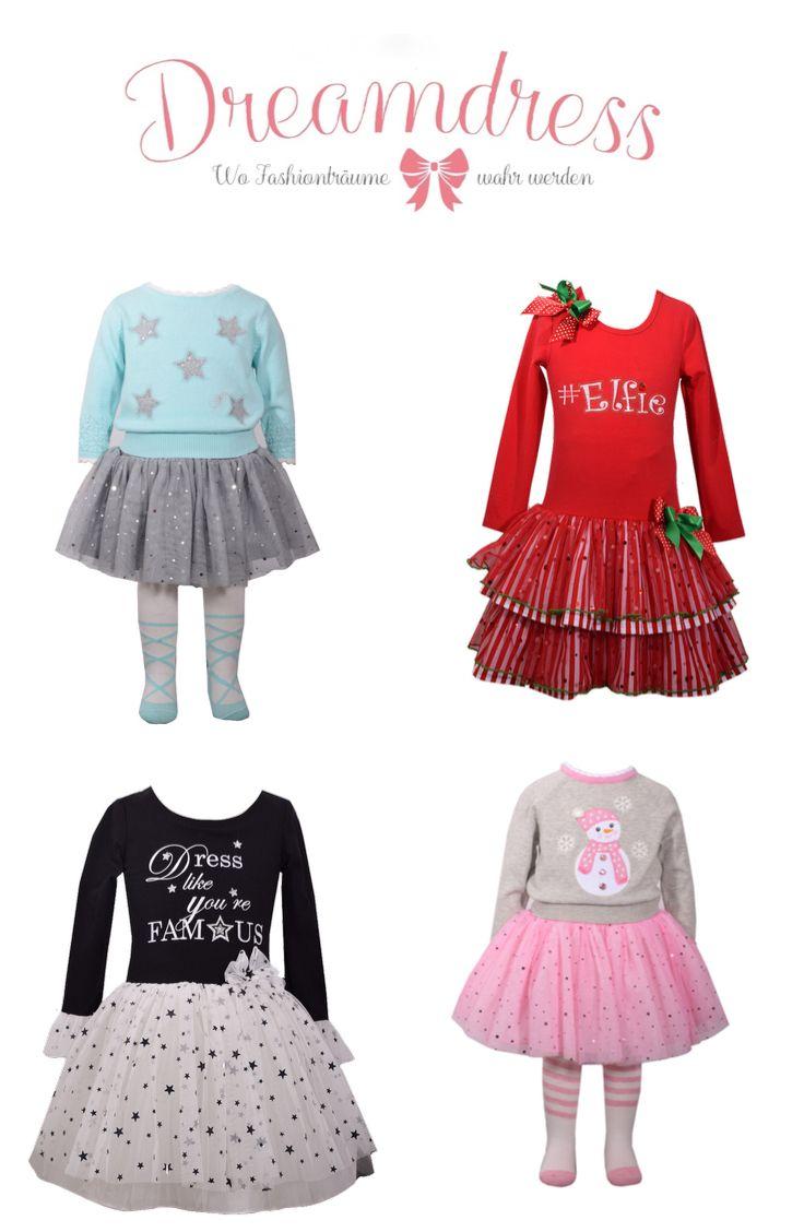 Tolle Mädchenmode bei Dreamdres.at. #girlsfashion, #Tutu, #weihnachten, #santafashion