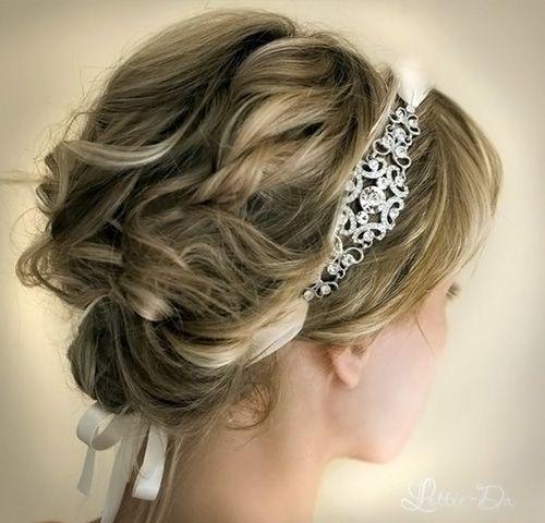 красивый вариант греческой свадебной прически