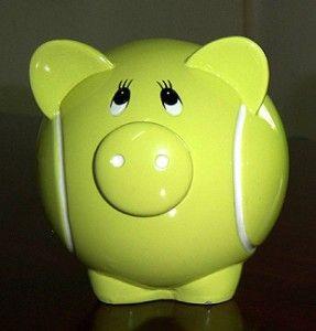Yellow tennis ball piggy bank. My favourite piggy banks: My favourite piggy bank: http://www.helpmetosave.com/2012/02/piggy-bank/