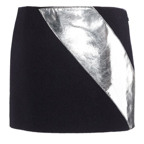 Sonia Rykiel Boiled Wool Micro Skirt (1 100 AUD) ❤ liked on Polyvore featuring skirts, mini skirts, navy, navy skirt, sonia rykiel, metallic skirt, sonia rykiel skirt and fitted mini skirt