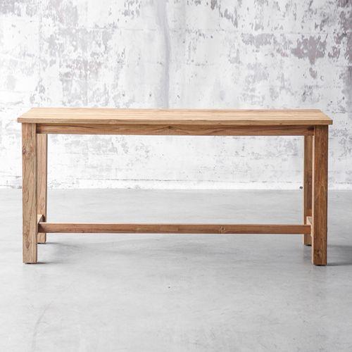 Table à manger rectangulaire en teck naturel  L140 Ferme