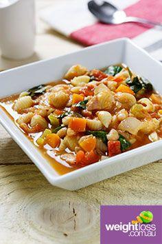 Pasta e fagioli. #HealthyRecipes #DietRecipes #WeightLossRecipes weightloss.com.au