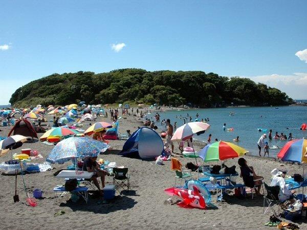 沖ノ島の海水浴場。