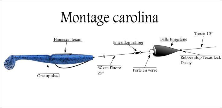 Voici trois montages simples à réaliser pour pêcher le carnassier en général (Brochet, sandre,perche). La particularité de ce montage réside dans l'utilisation d'une balle en tungstène et d'une perle en verre, les cliquetis émis attirent le carnassier...