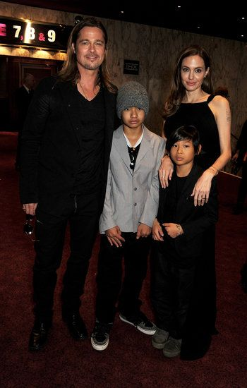 : Brad Pitt and Angelina Jolie walked the red carpet with Maddox and Pax at the World War Z London premiere.