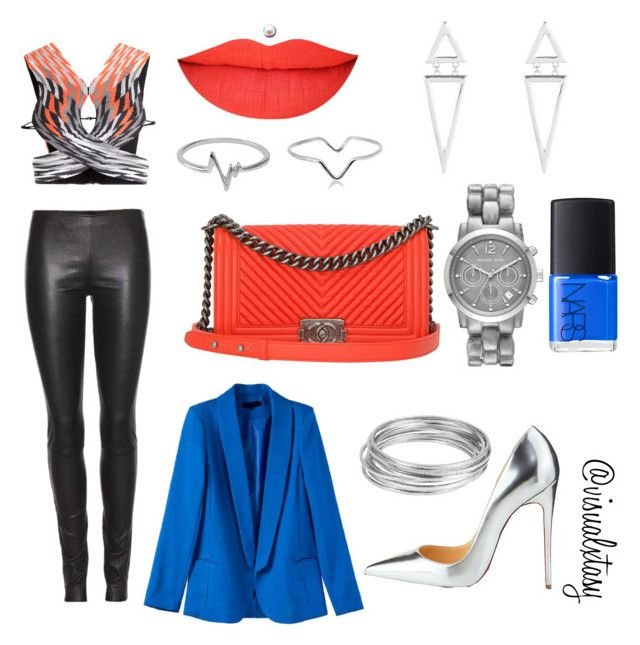 """""""Blue Crush """" by visualxtasy on Polyvore featuring Alexander Wang, Chanel, Michael Kors, Jewel Exclusive, Maya Magal, Christian Louboutin, The Row, Worthington, NARS Cosmetics and women's clothing"""