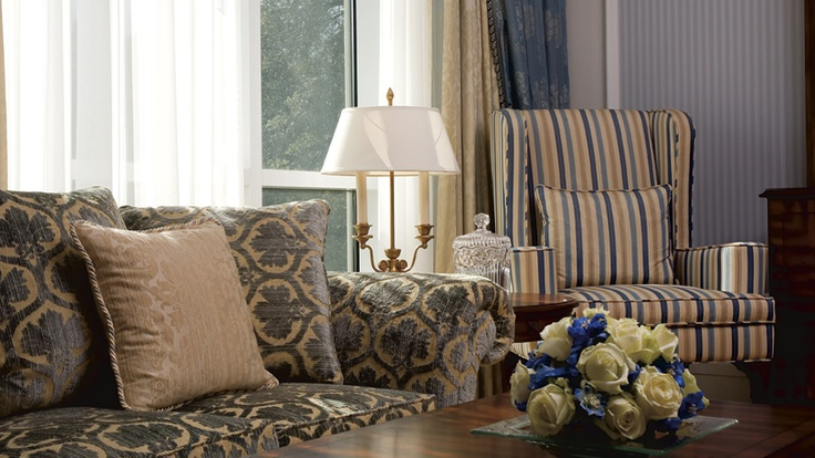 Elegant furnishings in the Suite living room