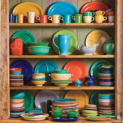 Beautiful Fiesta Dinnerware color combo from Southern Living