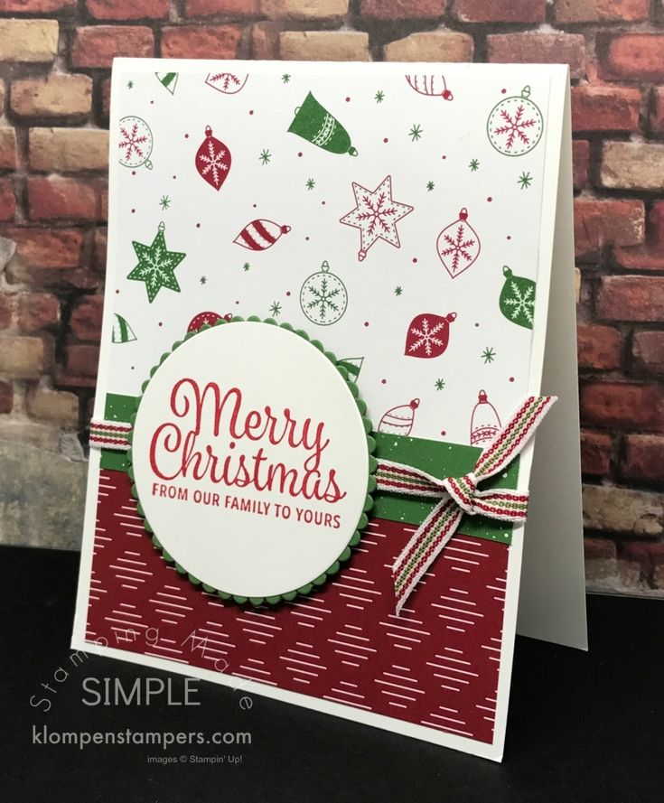 Quick Easy Christmas Cards Using Be Merry DSP And Snowflake Sentiments From Stampin UP