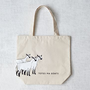 Market Tote Bag - Totes Ma Goats #westelm