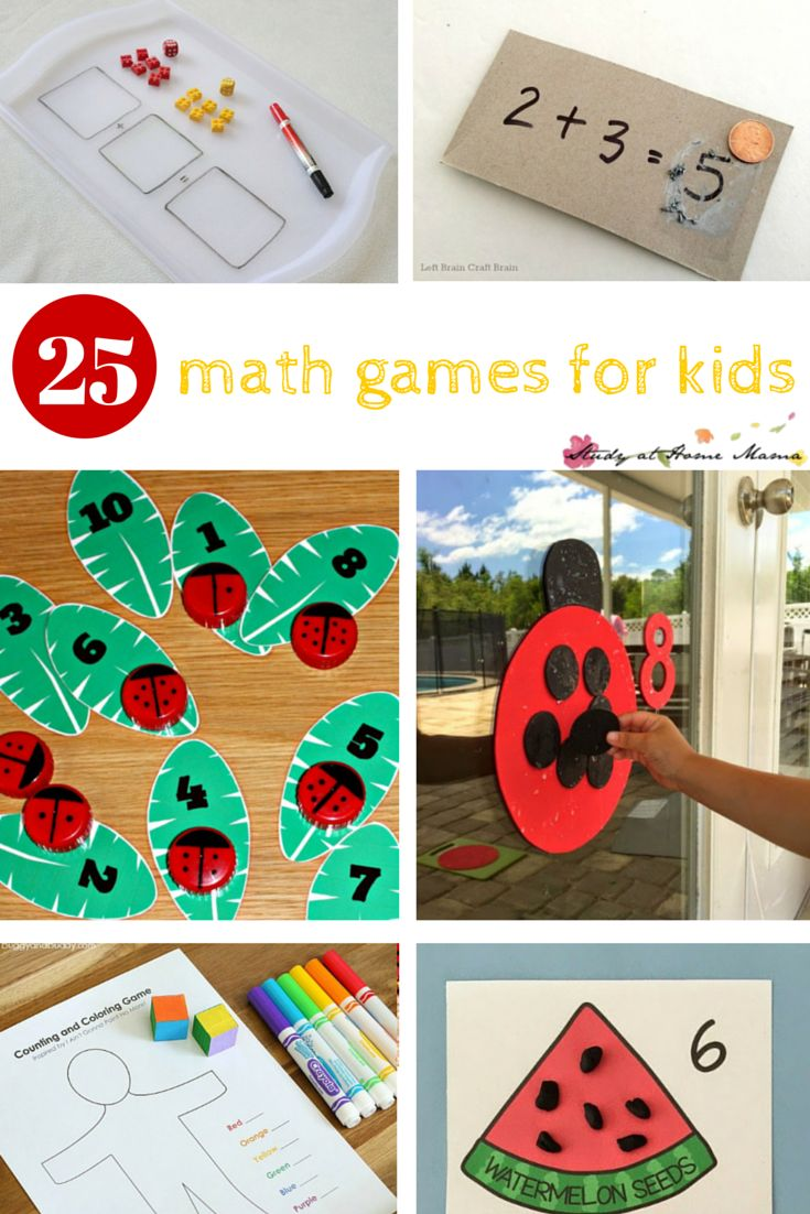 25 Math Games for Kids - so many hands-on math activities that kids will love