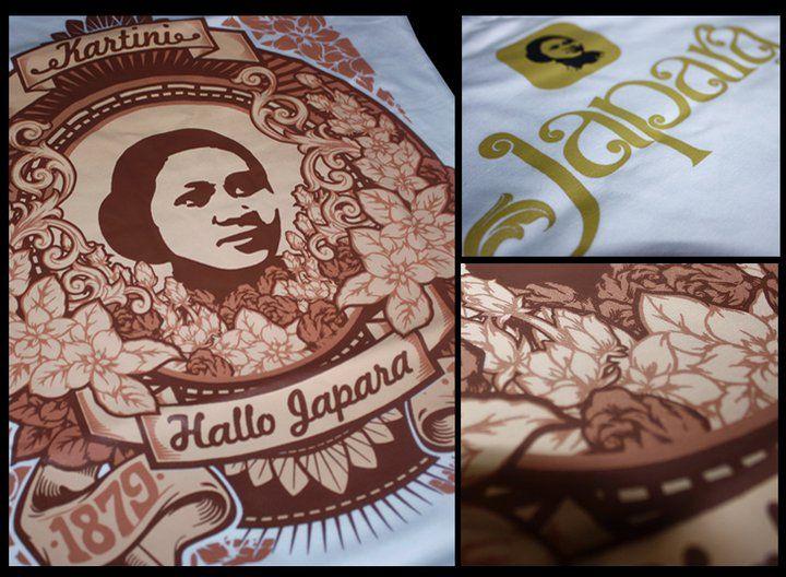 "Kaos Kartini   Kaos qimo     untuk edisi bulan oktober 2010 bertemakan ""Hallo Japara"". Kalimat di    atas saya (qimo) ingin menyapa kota Ja..."